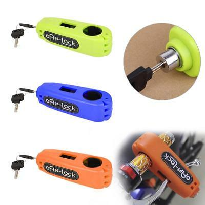 Motorcycle Bike Scooter Anti-theft Handlebar Clutch Safe Lock Security Caps-Lock