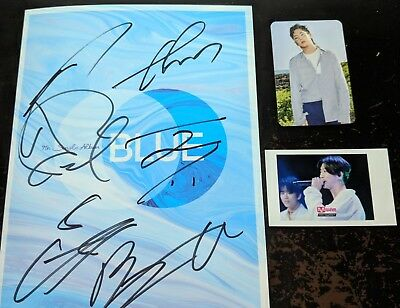 B.A.P - BLUE 7th Single Album A ver. Signed album + Photocard KPOP/ UNSEALED