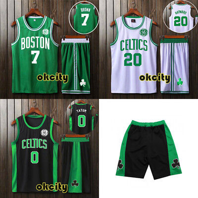 Top & Shorts Boston Celtics NBA Jersey Youth Adult Kid Outfit Men Child Set