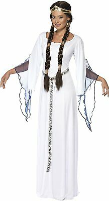 Adult Women's Medieval Maid Costume ~ White ~ Large