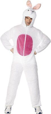 Adult Unisex Bunny Costume, Jumpsuit with Hood ~ Medium