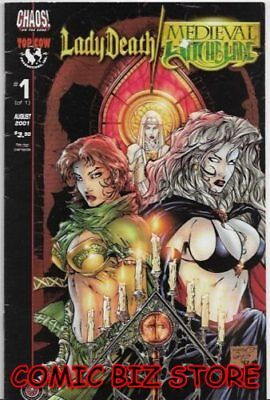 Lady Death/ Medieval Witchblade #1 (2001) 1St Printing Bagged & Boarded Chaos