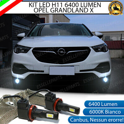 Kit Full Led Opel Grandland X H11 Fendinebbia Canbus 6400L 6000K No Error