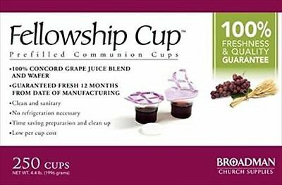 Fellowship Cup Box of 250 - Pre-filled Communion Bread & Cup