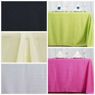 """1 pc 72x120"""" Polyester RECTANGULAR Tablecloth Wedding Table Linens Supplies SALE"""