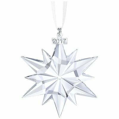New Swarovski 2017 Annual Large Crystal Star Christmas Tree Ornament NOB (A)