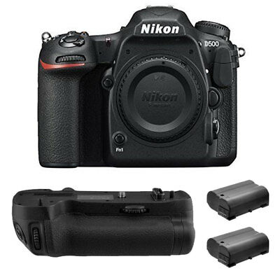 Nikon D500 DSLR Camera 20.9MP DX-Format Body +2x xtra Battery + Grip Pro Kit New
