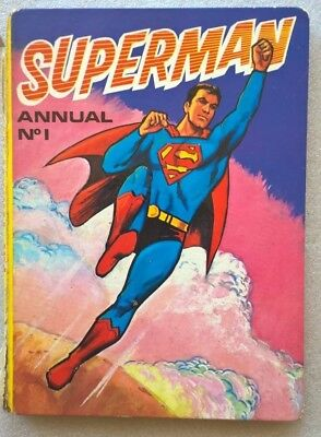 SUPERMAN ANNUAL No 1 1972 Pub BROWN AND WATSON