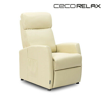 BB V1700199 Poltrona Relax Massaggiante Compact Push Back Beige Cecorelax 6181