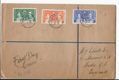 St HELENA KGVI 1937 CORONATION FIRST DAY COVER