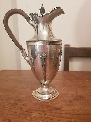 antique silver plated claret jug made by James Dixon & sons
