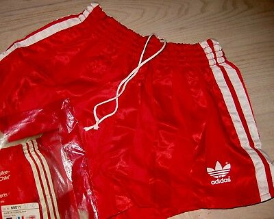 Vintage Adidas Glanzshorts Shorts Shiny Pants Glanzhose D3 UNWORN Small Turnhose