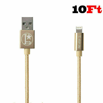 Lightning Cable 10FT MFi Certified Charger for Apple iPhone X 8 7 6s 6 Plus Blue