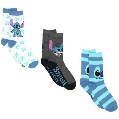 Lilo & Stitch Womens 3 pack Crew Socks (Teen/Adult) LO016JCC