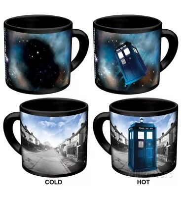 Dr. Doctor Who Disappearing Tardis Changing Coffee Ceramic Cup Mug New in Box