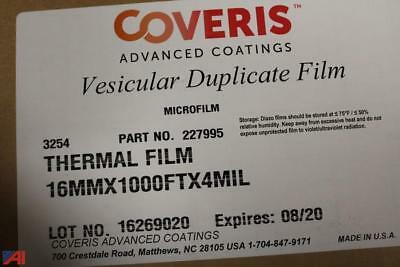 NEW CASE 20 ROLLS COVERIS VESICULAR DUPLICATING MICROFILM 16 mm X 1000 ft 4 mil