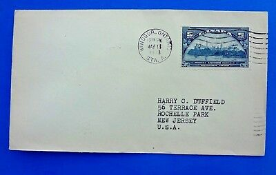 Canada, Canadian #202, Postal Union FDC Cover from 1933; U.P.U. Stamp; Mailed