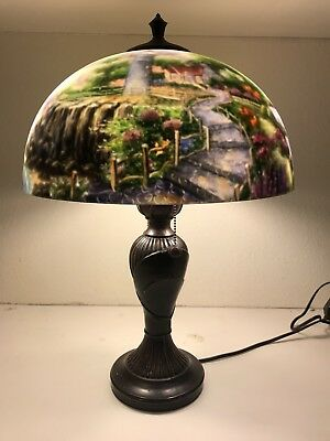 Thomas kinkade a light in the storm reverse painted lighthouse thomas kinkade a light in the storm reverse painted lighthouse lamp shade aloadofball Images