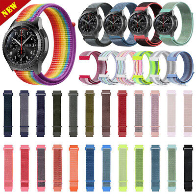 Sport Woven Nylon Strap Watch Band For Samsung Gear S3 Frontier / Classic 22mm