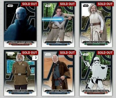 Topps Star Wars Card Trader The Force Awakens Galactic Files Full Set Awards Inc
