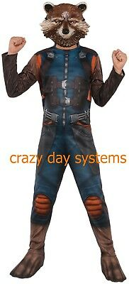Guardians Of The Galaxy Rocket Raccoon Child Costume Size M 8/10 Halloween Boys
