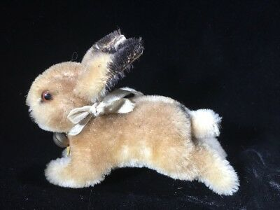 Vintage Steiff Hoppy Rabbit Bunny Neck And Ear Tags ID Mohair Germany