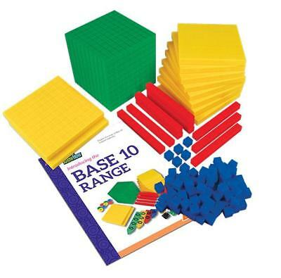 MAB Base Ten Maths Blocks Student Pack 123 Pieces Teacher Resource Place Value