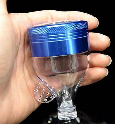 1 Aluminum Metal Grinder With Acrylic Funnel Tobacco Herb Spice Grinder Crusher