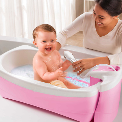 Best Baby Bath Tub Shower And Spa Sink Portable Travel Summer Infant Girl Bubble