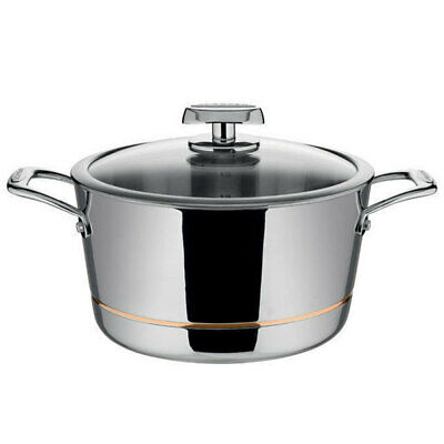 Scanpan Axis 5.2L Dutch Oven Casserole/Pot Dish Induction Stainless Cookware/Lid