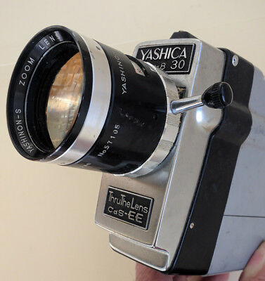 Vintage 60s Japan Yashica Super 8 30 Movie Camera w/manual zoom - used as-is