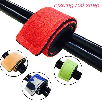 Fishing Rod Tie Strap Belt Tackle Elastic Wrap Band Pole Holder Tool Accessories