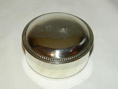 VINTAGE EMPIRE SILVER Co. STERLING SILVER ROUND JEWELRY - TRINKET BOX