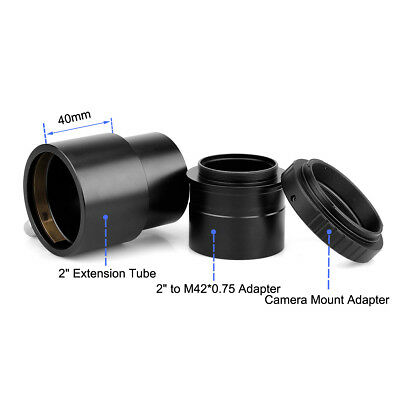 New 2''Telescope Eyepiece Extension Tube+Canon Camera Mount Adapter+T Adapter US