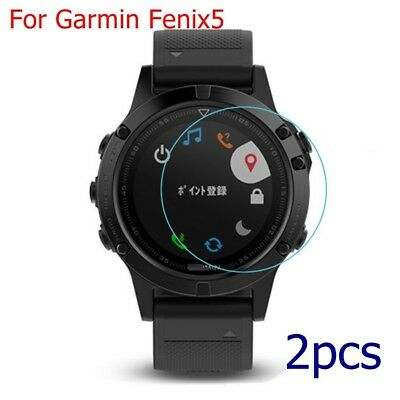 2x Premium Anti-Scratch Tempered Glass Screen Protector For Garmin Fenix 5 Watch