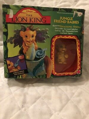 The Lion King Jungle Friend Babies Snacking Simba Rare Mattel Factory Sealed