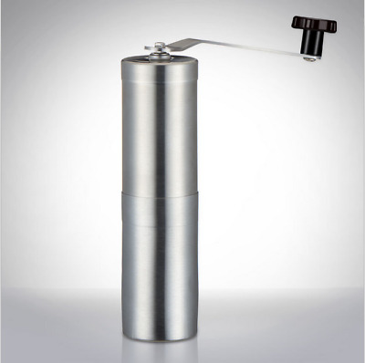 Protable Manual Coffee Grinder Conical Burr Mill Brushed Stainless Steel