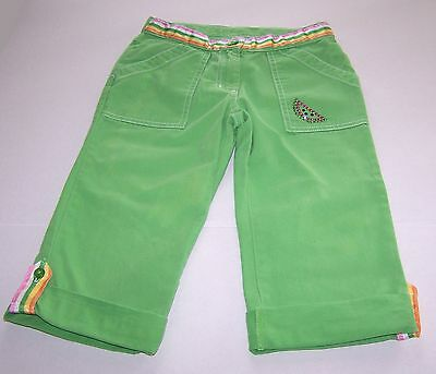 Gymboree Girls Pants Size 6 Green Beaded Adjustable Waist and Legs Tutti Fruity