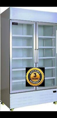 1000L 2 door glass door upright chiller refrigerator Brand New.