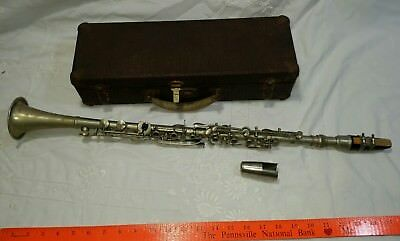 Antique Vintage A. Fontaine Clarinet Made in France w/ Case Musical Instrument