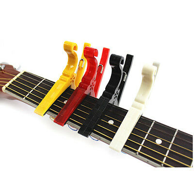 For Acoustic/Electric Ukulele Hot Quick Change Guitar Capo Tuner Clamp Tuning RW