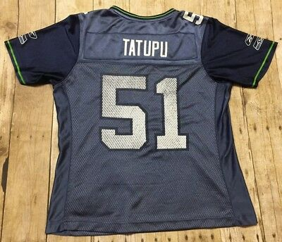 110da82ba RARE Seattle Seahawks Jersey Lofa Tatupu  51 Womens Reebok Medium NFL  Football