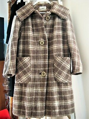 Wonderful 50S/60S Pure Wool 'stanleys Creation' Mohair Coat From England. Sz 10-
