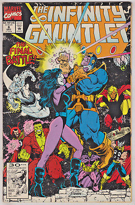 Infinity Gauntlet#6 Fn/vf 1991 Thanos Marvel Comics