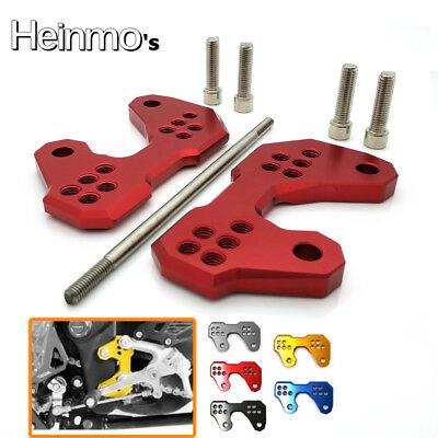 Red Rearsets Foot Pegs Mount Bracket Bases For Yamaha YZF R3 2015-2018 R25 13-18