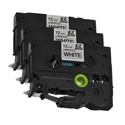 3pcs TZ231 TZe-231 12mm x 8m Label Tape Compatible for Brother P-Touch HS1165