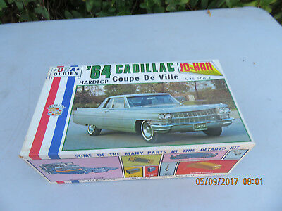 JO-HAN 1964 Cadillac Hardtop Coupe De Ville  Model Car Kit