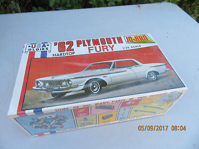 Jo-Han 1962 Plymouth Fury Hardtop Vintage Model Kit 1:25 Scale Sealed