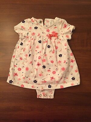 060043cf CARTERS BABY GIRL Dress w/ attached Diaper Cover! 3 MONTHS - $7.50 ...