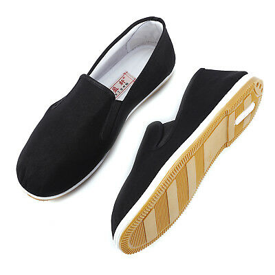Chinese Martial Arts Kung Fu Shoes/Slippers/Plimsoll system test Black Rubber